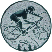 Emblem Mountainbike Ø50 bronze