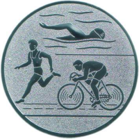 Emblem Triathlon Ø25 bronze