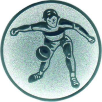 Emblem Faustball Ø25 bronze